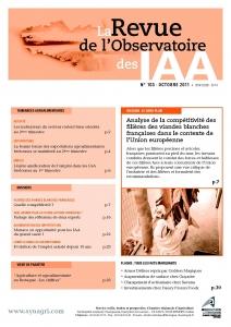 Couverture N°103 Revue de l'Observatoire des IAA